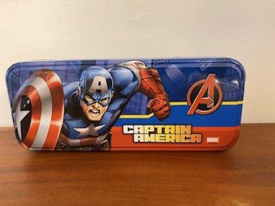 *1/2美人魚*正版 蜘蛛人 美國隊長 復仇者聯盟 兒童 雙層 馬口鐵 書架 三層 鉛筆盒 文具用品 特價250元