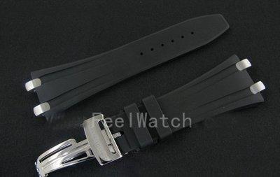 K_k strap ~ 原廠款 AP愛彼 矽膠帶 含折疊扣 適合皇家橡樹離岸錶款 logo