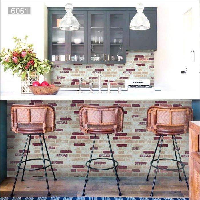 壁貼 壁紙 文化石 磚紋 立體石材紋 岩石紋 自黏背膠 牆貼 防水 防潮  牆壁 家具 翻新