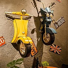 復古工業風牆面裝飾品酒吧店鋪牆壁牆上挂件創意餐廳鐵藝立體壁掛(4款可選)