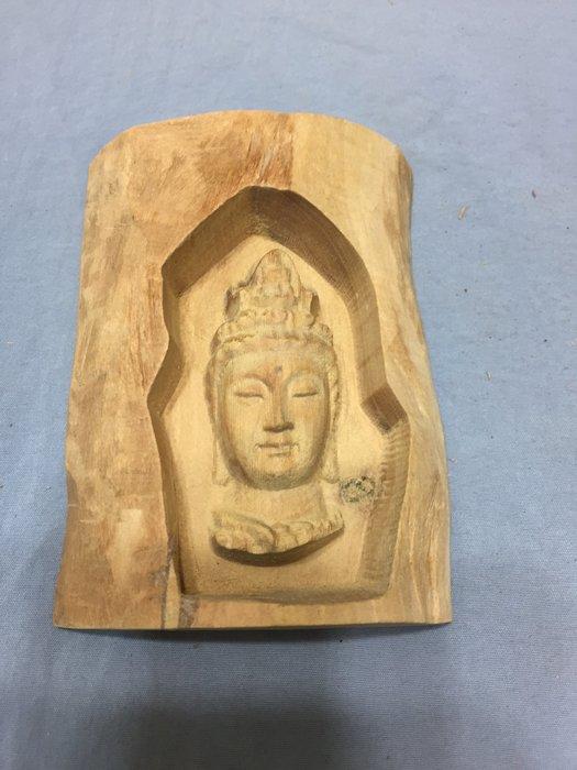 双茂藝品----檀香木雕觀音---#A0949