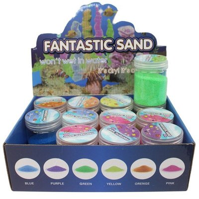 放在水裡也不會濕的神奇魔術沙/一盒12個入(促50) 神奇魔力不濕沙 魔術沙 水中造型沙 不濕沙 彩砂 玩具沙 魔