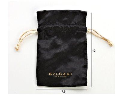 【台中好物】BV專櫃包裝用 黑底金抽繩 實用多功能小物束口包 飾品袋 包裝袋 口紅收納抽繩包 化妝包