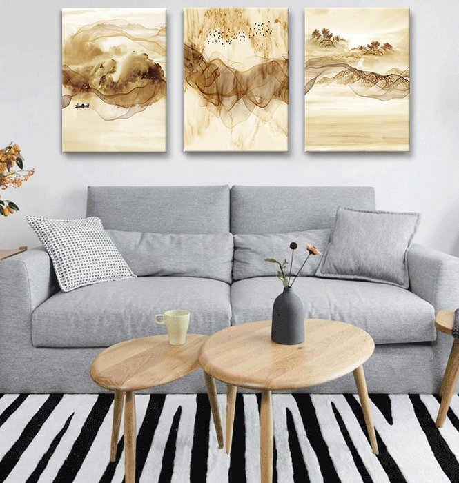 居家裝飾 掛畫 無痕釘安裝 不傷墻面 北歐風格抽象客廳沙發背景墻裝飾畫現代簡約餐廳臥室床頭掛畫壁畫