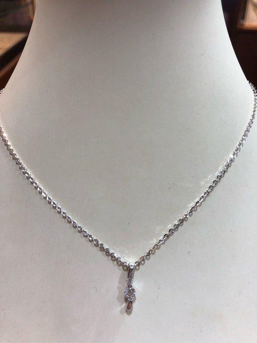 21分天然鑽石項鍊,簡單設計款式適合平時配戴,出清價15800元,只有一個要買要快