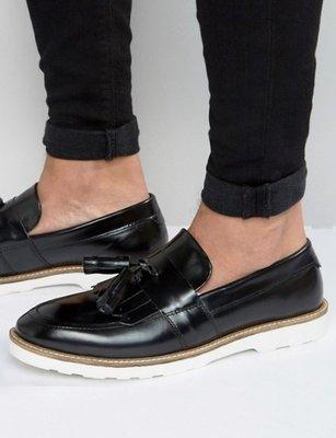 ◎美國代買◎ASOS流蘇裝飾搭配車線白色鞋底英倫雅痞紳士風流蘇皮鞋~歐美街風~大尺碼~