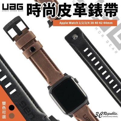 UAG Apple watch 38 40 42 44 mm 時尚 不鏽鋼 真皮 皮革 腕帶 錶帶 替換錶帶