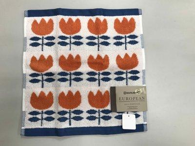 日本 橘色鬱金香大方巾