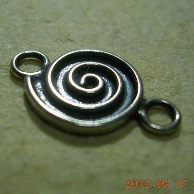 琥珀貓~【925純銀材料配件】連結配件~N7995~螺旋~一個