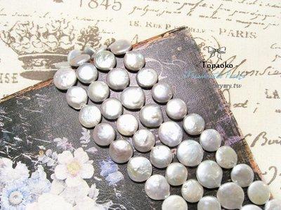 天然石.DIY材料 天然灰色巴洛克扁圓形淡水珍珠隨機1顆入【F9529】約14mm手工飾品《晶格格的多寶格》