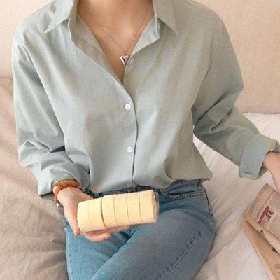 夏季休閒女裝上衣襯衣 正韓 糖果色長袖襯衫 艾爾莎【TLS00415】