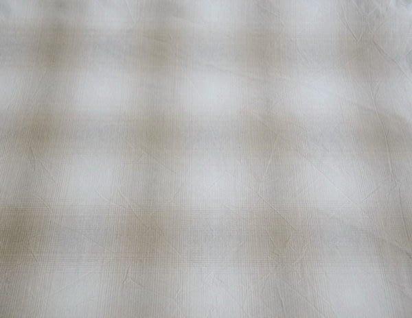 貝田明美愛用~#719-1淺卡其大格紋漸層先染布/ 拼布布料~巧巧布拼布屋  JS0004