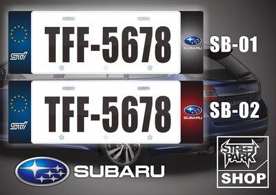 【STREET PARK】訂製 歐盟 車牌裝飾 SUBARU 車系 XV WRX【原價780$ 特價 580$】