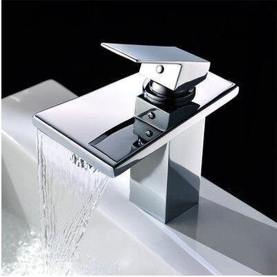 【優上精品】奧康瀑佈單孔 瀑布冷熱水面盆龍頭全銅瀑布龍頭洗手間浴室水龍頭(Z-P3161)