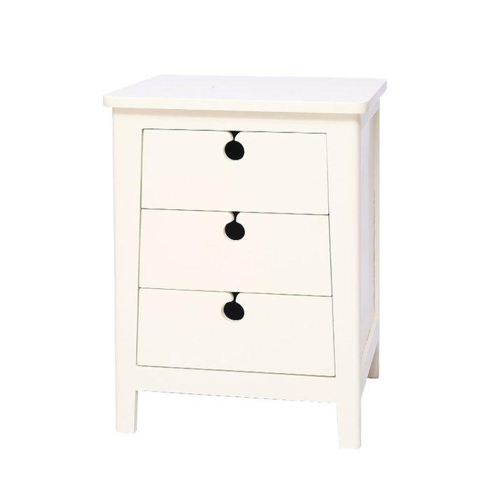 【全新品】全實木床頭櫃 美式白色北歐簡約臥室經濟型儲物收納床邊小櫃jj  [巧靈店]