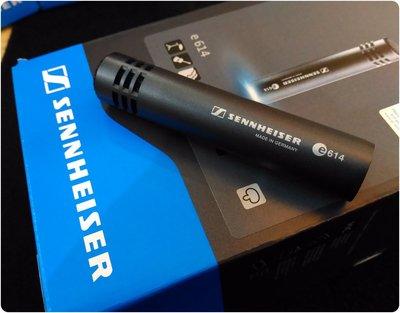 ♪♪學友樂器音響♪♪ Sennheiser e614 超心型指向 電容式麥克風 Overhead 樂器收音