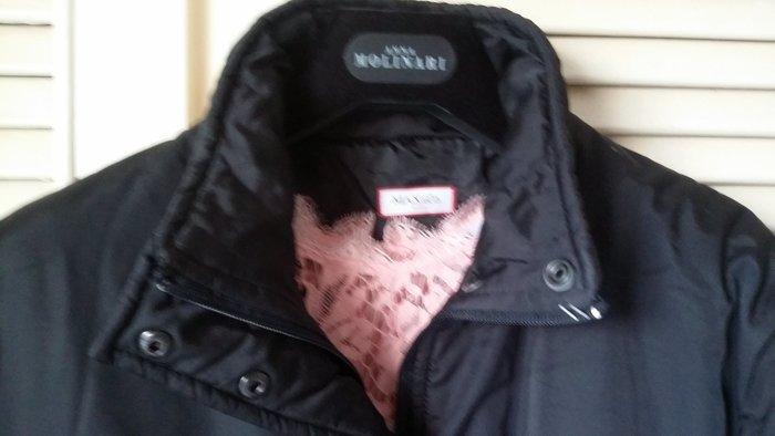 MAX & CO 蓋臀黑色極簡風羽絨外套