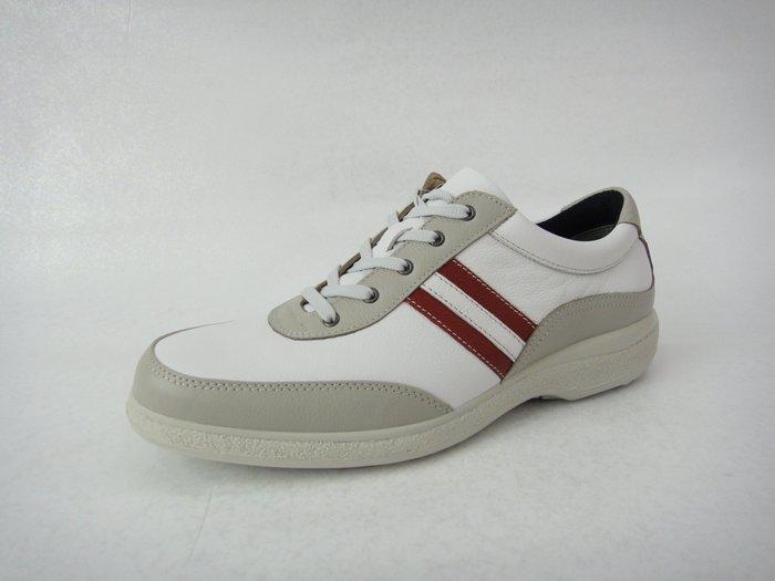 [WALKER 休閒運動] 日本原裝進口MOON  STAR 月星 氣墊皮鞋  健步鞋 2色-白