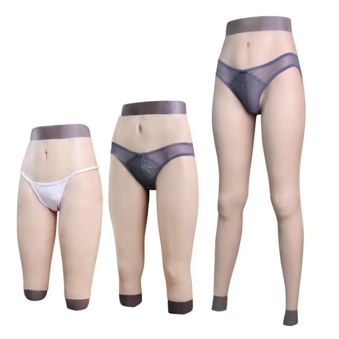 假陰內褲男用偽娘用品下體變裝硅膠衣偽街可插入男變女褲AMXP