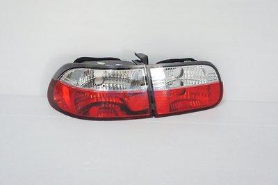 ~~ADT.車燈.車材~~CIVIC K6 92 93 94 95 3D 3門 紅白晶鑽尾燈一組