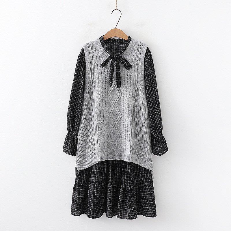 【7524】連身裙  日系森女系背心兩件式連身裙。☆*藍荳荳小舖*☆(預購)