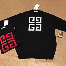 GIVENCHY 18F/W最新款logo嵌花套头毛衫 毛衣 男女同款