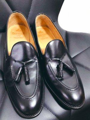 Berwick 1707 tassel loafer 流蘇樂福皮鞋 9號二手美品 黑色牛皮