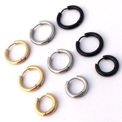 限時買2送1 韓國 GD 耳環 權志龍 鈦鋼 防過敏 耳圈 圓環 耳飾 圓圈 情侶