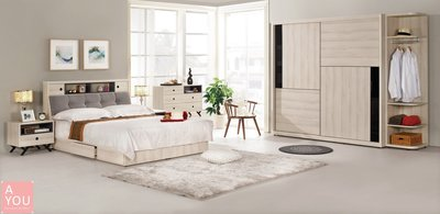 優娜5尺被櫥式雙人床  促銷價15900元(免運費)【阿玉的家2018】