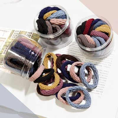 【04678】 韓版簡約風 無接縫加粗高彈力髮圈 髮繩 髮飾 新秘素材