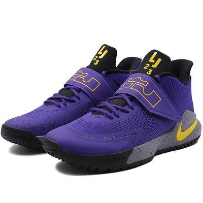 =CodE= NIKE AMBASSADOR XII 魔鬼氈針織籃球鞋(紫灰黃) BQ5436-500 LEBRON 男