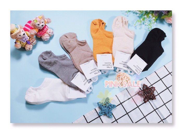 ♥PinKの寶舖♥韓國新款 ETNA 淺口船型襪 素色 後跟止滑 新款 文青 包色 素色 襪子 踝襪 六色 特價$39