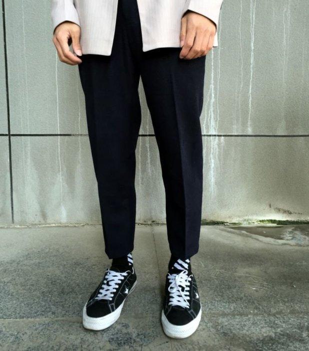 【NoComment】英倫時尚 質感簡約 高品質羊毛布九分西裝褲 黑 土黃 兩色 G2000
