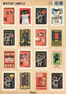 《散步生活雜貨-文具散步系列》日本進口  Homestead 復古 Match Labels 標籤貼紙-HS1222字符