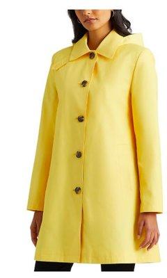 Ralph Lauren Hooded Single-Breasted A-Line Raincoat,5/9止