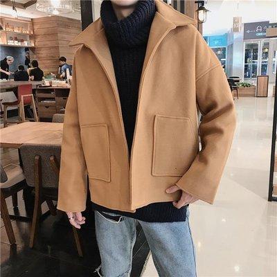 【有好貨 你確定不看看?】秋冬季風衣男韓版短款潮流呢大衣  古月醬子館