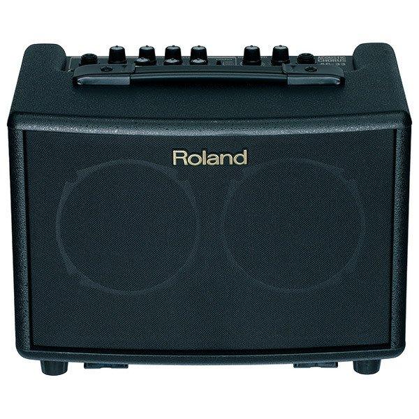 【六絃樂器】全新 Roland AC-33 攜帶式木吉他音箱 烏克麗麗音箱 / 街頭藝人 可裝電池