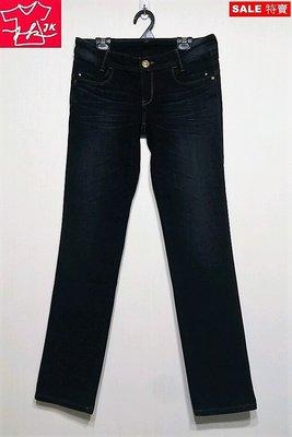 專櫃品牌 BIG TRAIN Victoria 牛仔褲 小直筒 彈性修身-女款-深藍-L【JK嚴選】LV 鬼洗