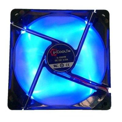 【電腦天堂】i-COOL TW LED 風扇 藍光 12CM/12公分 12*12*2.5 4pin 0.22A