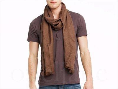 美國 官網 真品 A|X Armani Exchange AX 阿曼尼 咖啡色 柔軟 長型 圍巾 亞麻/棉 免運費