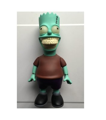 全新 Ron English x Made by Monsters x JPS 骨牙版 辛普森 霸子 Bart Grin