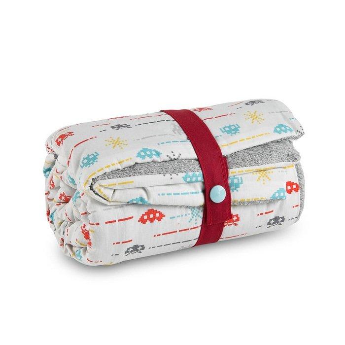 〖洋碼頭〗法國原產進口Carotte-Cie嬰兒毯新生兒抱毯爬行毯太空入侵者 L3132
