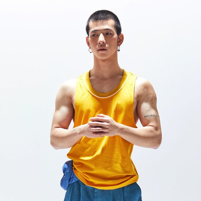 【OTOKO Men's Boutique】固制:長絨棉跨欄背心/黃色(台灣獨家代理)