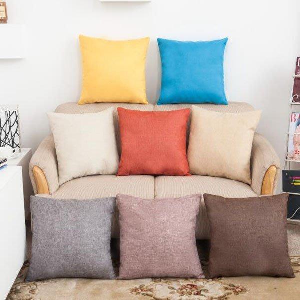 純色系列棉麻抱枕套 枕頭套【JI2302】《Jami Honey》