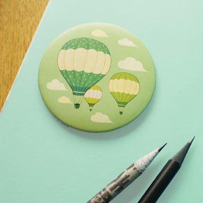 Growlife 種生活 ▶ 韓國 UNIPICS – 正版 甜美圓型手繪風小鏡子 / 化妝鏡 / 隨身鏡