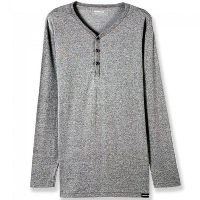 【MORINO摩力諾】竹炭紗  長袖T恤   半門襟(超值2件組)免運