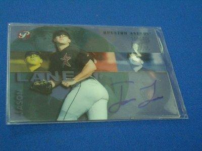 阿克漫231-193~MLB-2003年Topps Pristine簽名特卡Jason Lane只有一張