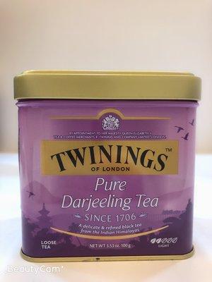 **愛洛奇**英國 TWININGS 唐寧茶 歐式大吉嶺茶 ( 100g/罐 )(10盒免運同系列任選)