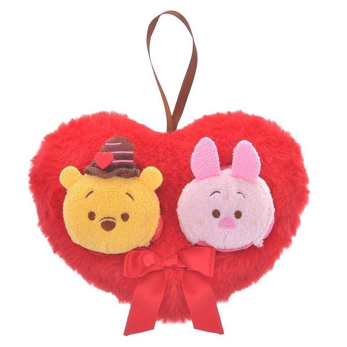 《FOS》2020情人節限定 日本 迪士尼 維尼  愛心 玩偶 TSUM TSUM 娃娃 禮物 Disney 可愛 送禮