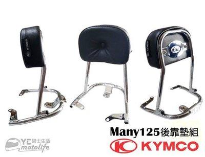 YC騎士生活_KYMCO光陽精品 Many 125【後靠墊 組】後靠背.後靠墊.小饅頭 魅力 岳騎愈帥 光陽原廠零件